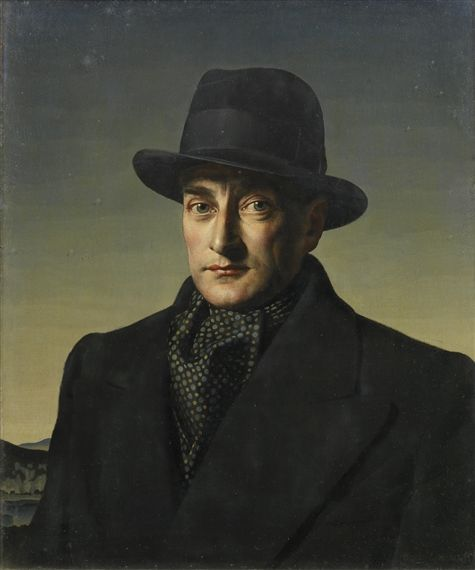 E Thomas Oil Painting
