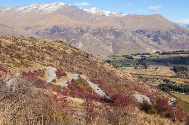 Mountain Road - Crown Range, Queenstown side lower switchbacks - Short, tight turns