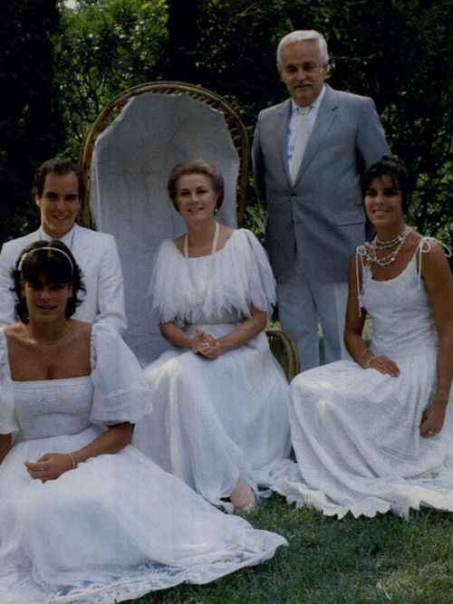The royal family of Monaco- what a lovely photo.
