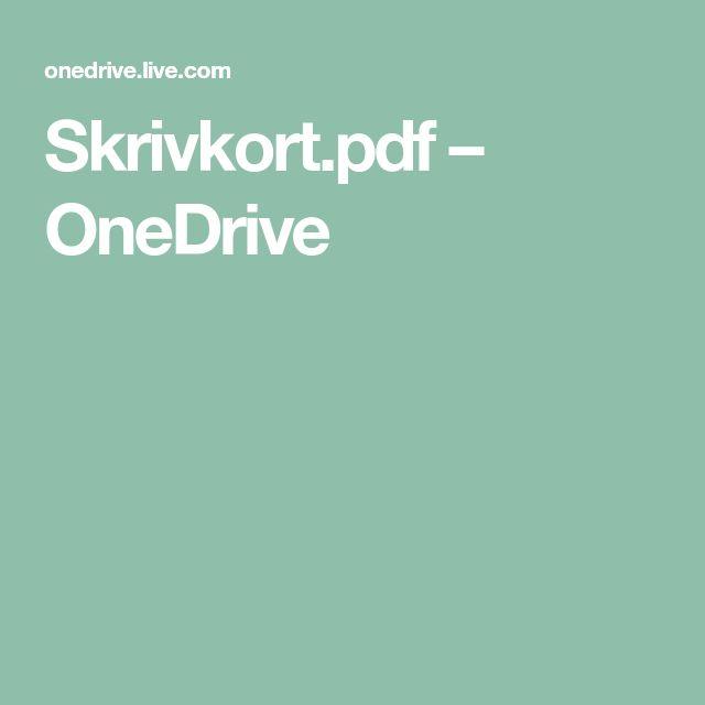 Skrivkort.pdf – OneDrive