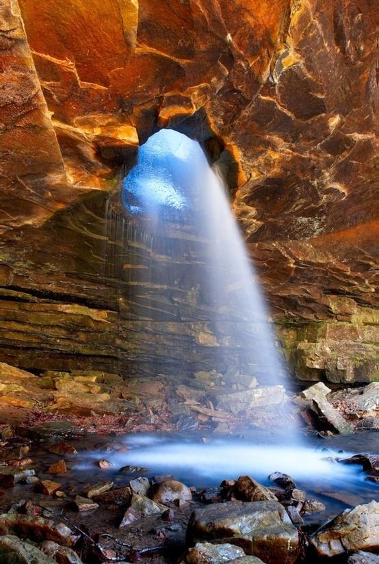 Glory Hole Waterfall near Fallsville, Arkansas