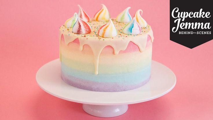 Behind The Scenes Making A Unicorn Cake Cupcake Jemma