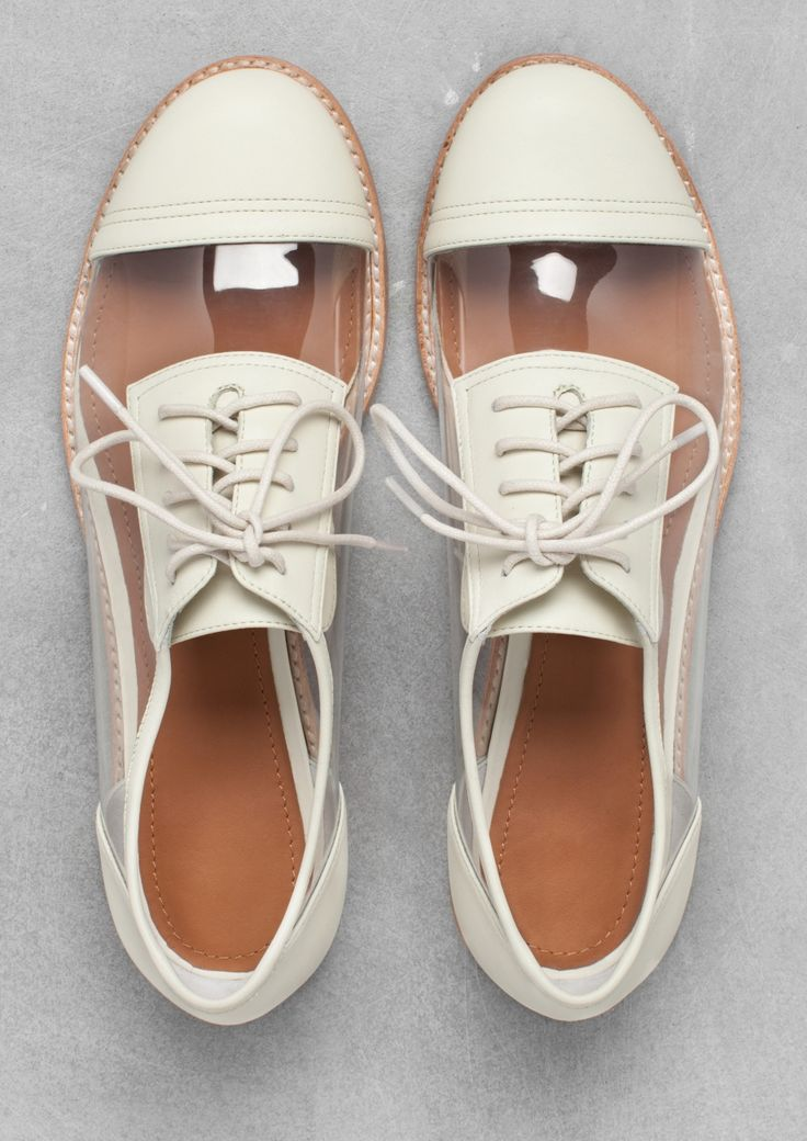 White and clear oxfords...I kind of dig these!