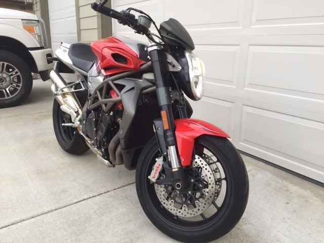 Used 2010 Mv Agusta BRUTALE 1090RR Motorcycles For Sale in California,CA. This bike has only 3450 miles and has been lightly ridden by the original 64 year old owner. It is 100% stock except for mirrors and LED turn signals. The bike boasts an amazing handling with a dual stage power map, as well as eight stage traction controls. Features of this model include steering damper, slipper clutch, and fully adjustable front and rear suspension with high/low speed damping (rear only). Why buy new?…