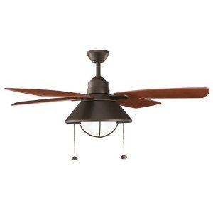 Family Room   Kichler Lighting Seaside 54IN Indoor/Outdoor Ceiling Fan,  Olde Bronze Finish