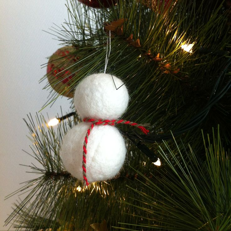 Little snowman!!  #winter #snowman #felt #wool #ornament #tree #christmas #handmade