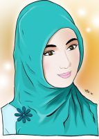 Hijabi Muslimah by VhanZifireZ