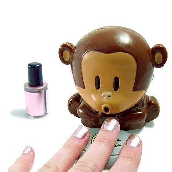 Cute monkey nail polish blower dryer. Dry your freshly painted nails quickly. 1x Cute Nail Monkey Dryer. Press on the plate of bananas and the cute monkey will blow cool air. · Press on the plate of bananas and the cute monkey will blow cool air.   eBay!