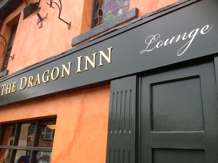 The good old Dragon Pub in Tallaght Village. once again a nice mix of handpainted and prismatic gold.
