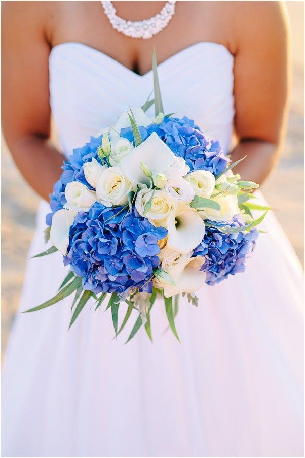 Bright Blue Hydrangea Bouquet