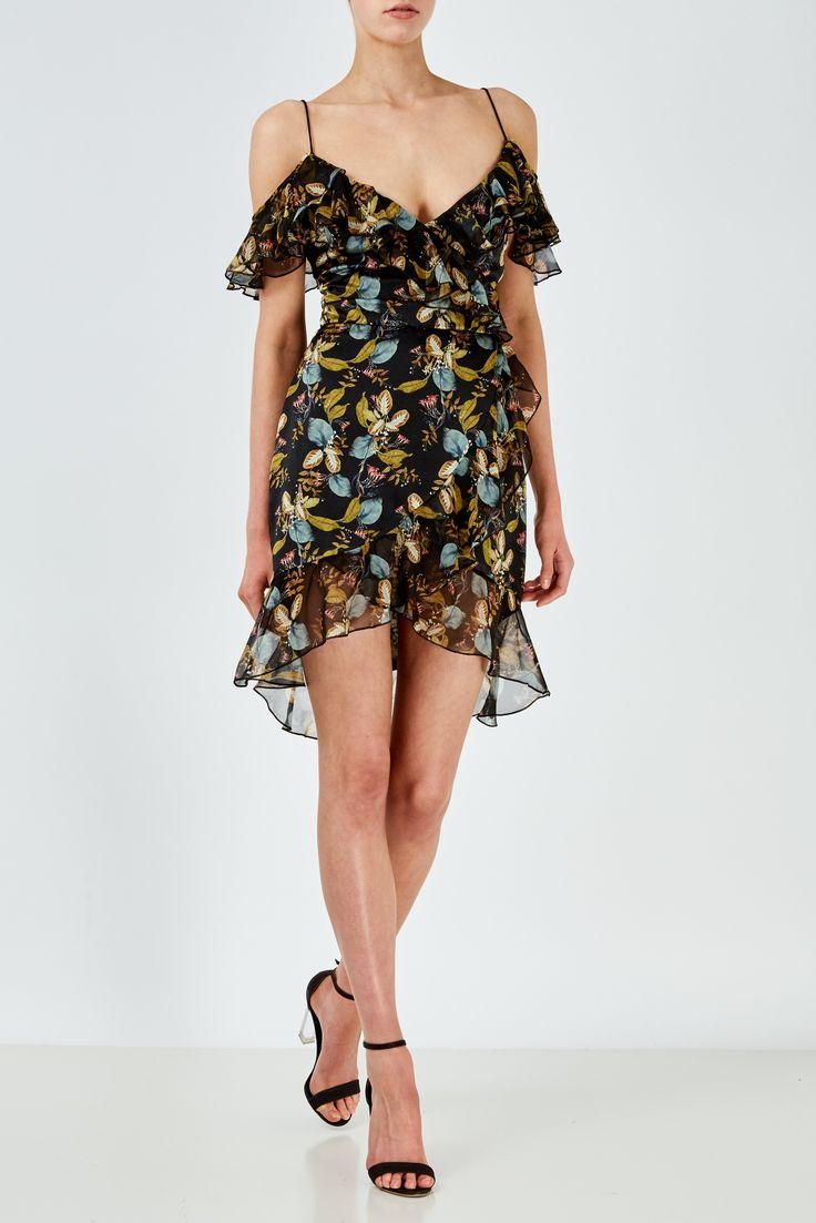 NICHOLAS - The Label Ava Floral Wrap Dress