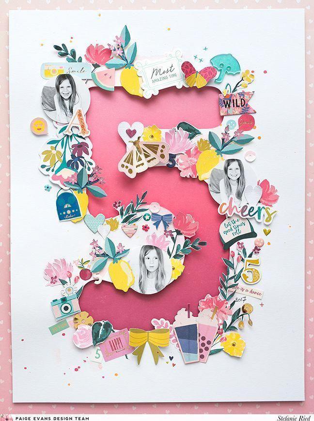 5 Layout By Stefanie Ried Babyscrapbooks Birthday Scrapbook Scrapbook Designs Scrapbook Crafts
