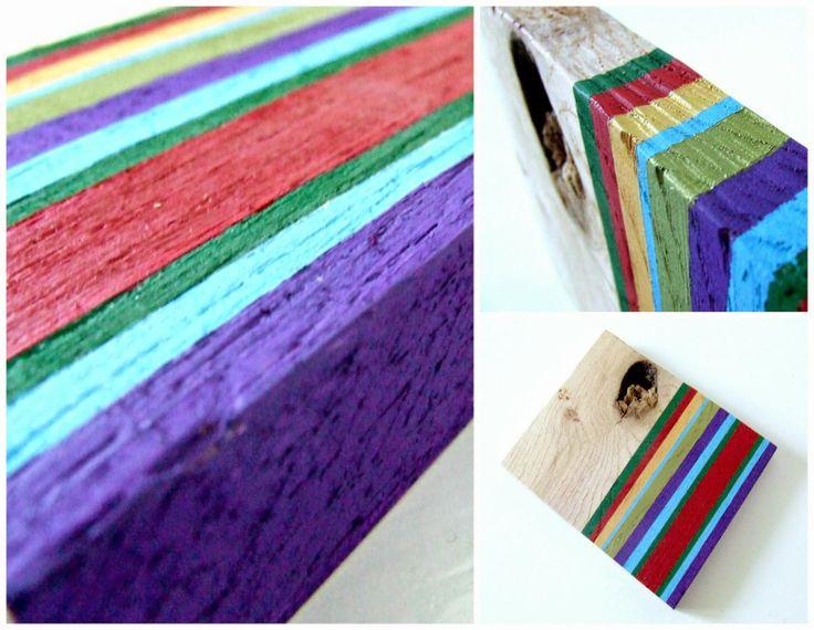 Drewniany design handmade - co można zrobić z kawałków drewna. Eco dekoracja z folkowym motywem. upcycling.