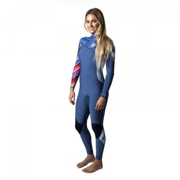 Combinaison surf Rip Curl Women G-Bomb Pro Zip Free 4/3 2017 - Blue