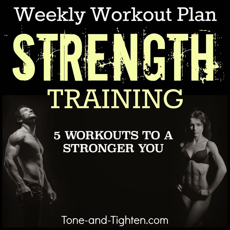 284 best Weekly Workout Plans images on Pinterest Exercise - weekly exercise plans
