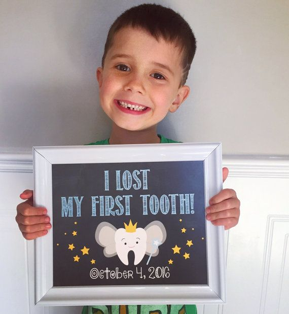 I lost my first tooth Printable Chalkboard