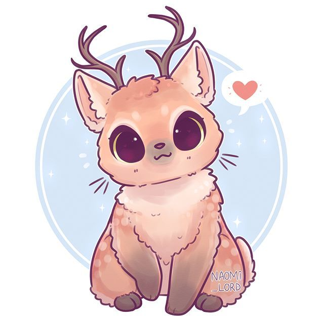 Another animal fusion! This time, a cat deer or deer cat ...Three Headed Animal Drawing