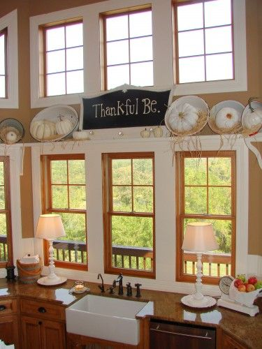 love the sign and white pumpkins!