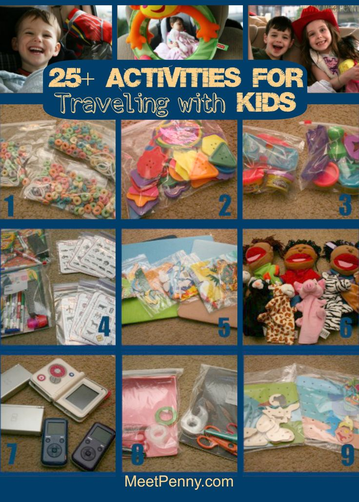 Really great list of activities and what to pack for traveling with kids