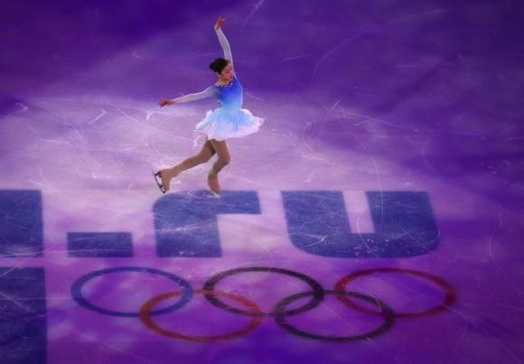 South Korea's Kim Yuna performs during the Figure Skating Gala Exhibition at the 2014 Sochi Winter Olympics February 22, 2014. REUTERS/David...