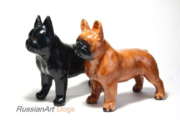French Bulldog statue, figurine handmade of ceramic, statuette by RussianArtDogs on Etsy