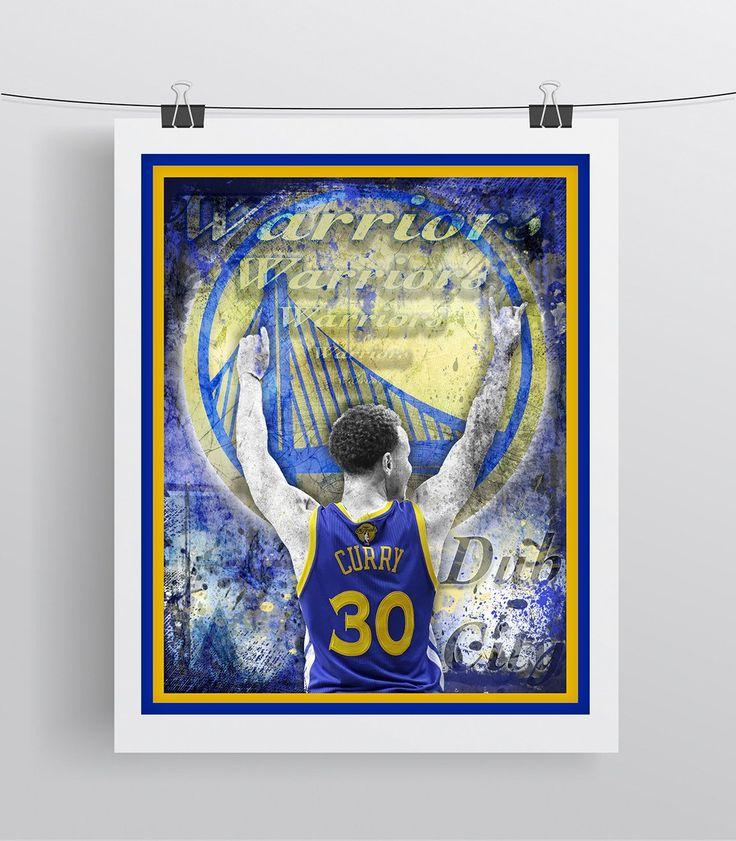 Golden State Warriors Steph Curry Basketball Poster, GSW, Warriors Print, Warriors Basketball Gift, Steph Curry Warriors Art