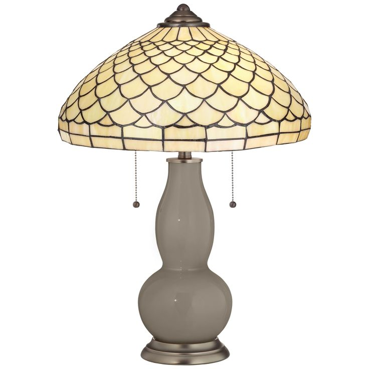 Backdrop Gourd Table Lamp with Scalloped Shade - Style # 8C921-3W241-8V040