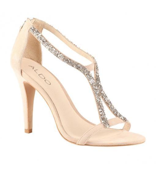 Aldo Balanello Embellished Court Sandals Off White