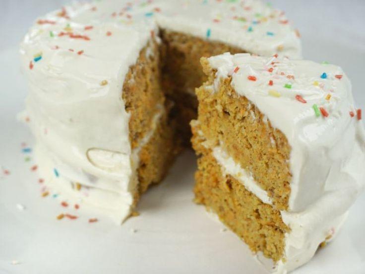 Zuckerfreie Rüeblitorte Rüeblikuchen Karottenkuchen Möhrenkuchen Gesunder Kuc…