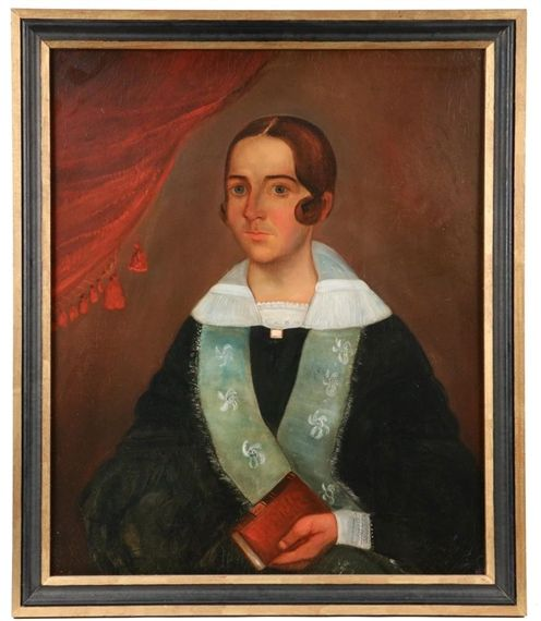 Artwork by William Otis Bemis, Mrs. Ch. Hall, Made of oil on canvas