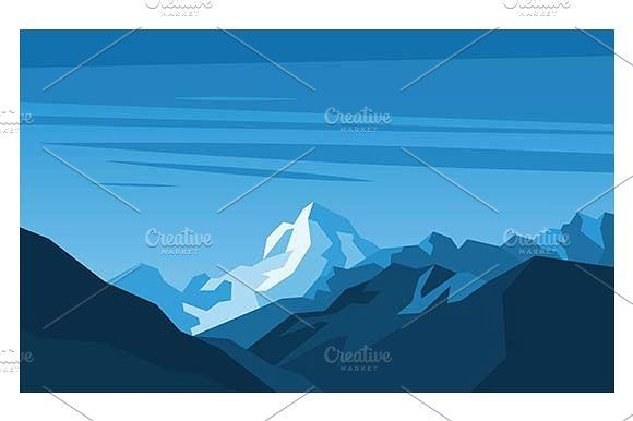 Blue mountains.  by Kurokstas on @creativemarket