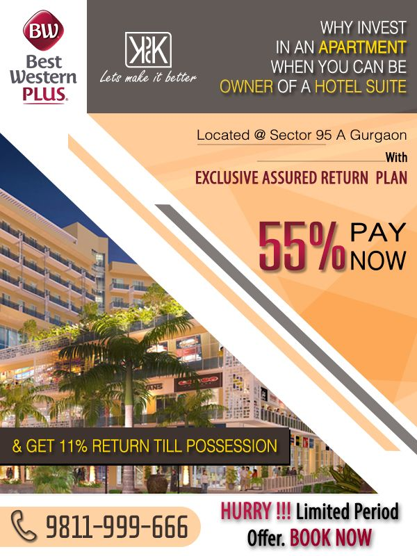 #KPDKBestWesternTownsuites Time to go for Lucrative Property, 100% secured Hotel Space to Invest. For More Info:- http://bit.ly/1U0feTV