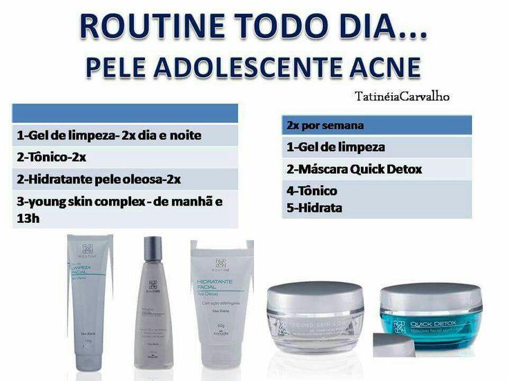 Linha completa Hinode Routine para tratamento de pele com acne adolescentes e adultos  Pedidos pelo site www.hinodeonline.net/3206160