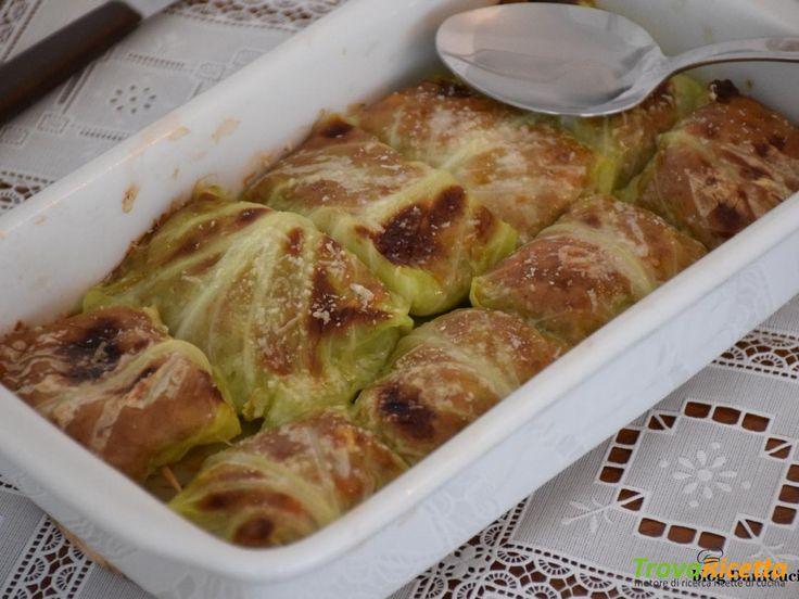 Involtini di verza con carne macinata (senza uova)  #ricette #food #recipes