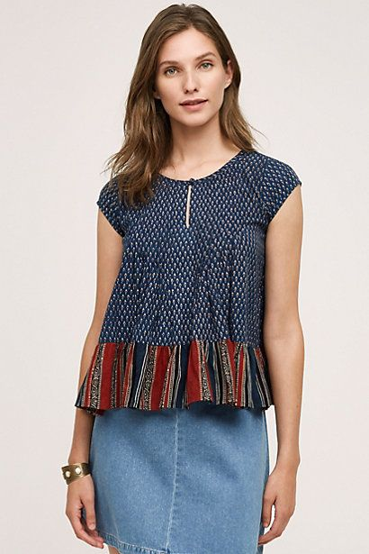 Liscia Swing Tank ..if longer would be perfect. #anthropologie