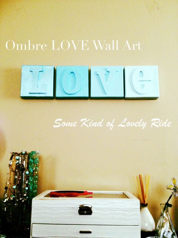 Ombre LOVE Canvas Art
