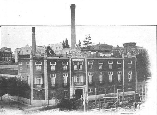 Fábrica de Platería Espuñes. La nave a espaldas de la calle Goya fue construida en 1920 según proyecto del arquitecto Gonzalo Aguado.