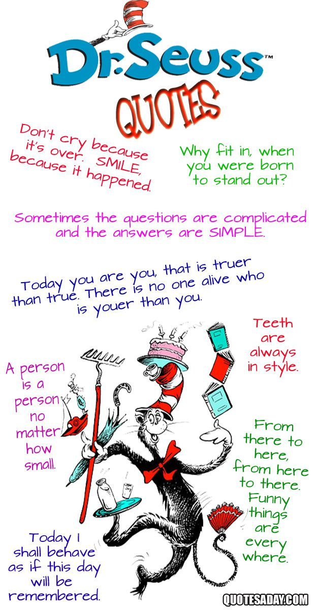 doctor suess quotes. Dominic loves The Cat in The Hat