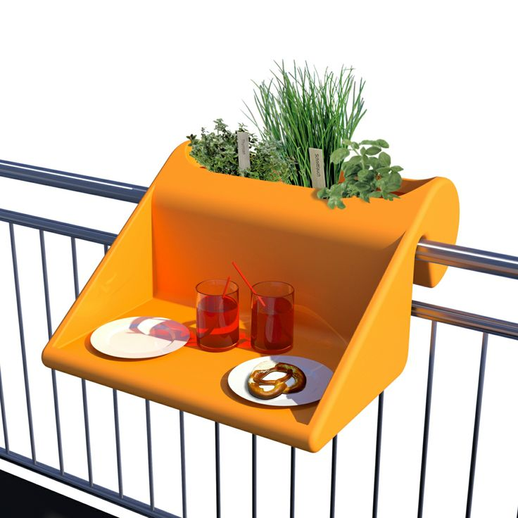 balKonzept - The design balcony table /planter combo.