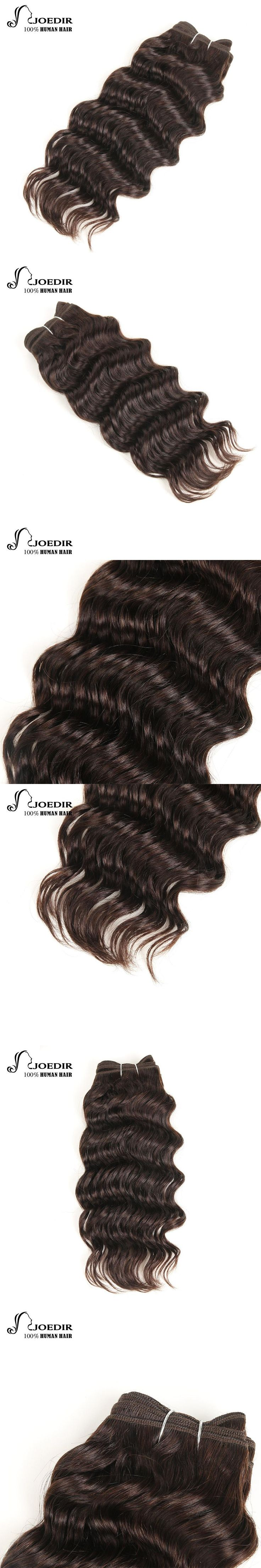 Joedir Pre-Colored Brazilian Deep Wave Hair 100% Human Hair Bundles Remy Weave Darkest Brown & Chocolate Brown Free Shipping