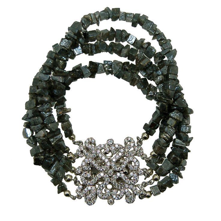 Coated Selmonite Cuff Bracelet (B395R) $800