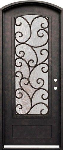 "38"" x 98"" Cascade Iron Arch Prehung Door Unit"