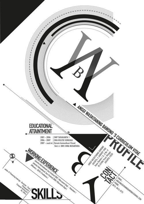 25 best creative portfolios, CVs, Resumes images on Pinterest - creative graphic design resumes