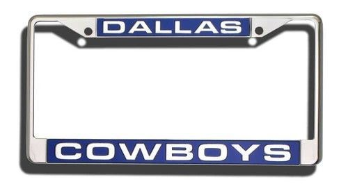 Dallas Cowboys Laser Cut Chrome License Plate Frame