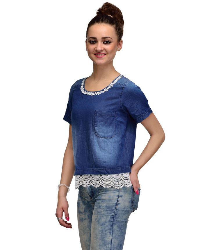 IR Accessories Blue Denim Blouses