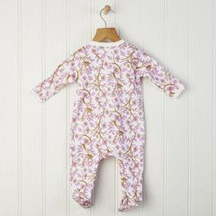 Newborn or baby girl flower romper with birds £19.00 Free delivery & gift wrap in mainland UK Team with our matching hats or harem pants for a great baby gift #romper #babygrow