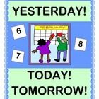 SEQUENCE THE DAYS OF THE WEEK with a GROUP RHYMING GAME!  Bring some RHYTHM and RHYME to your CALENDAR TIME!  What day is TODAY?  What day was YESTERDAY?  What day will TOMORROW be?  Learn a fun Rhyme, accompanied by a great Hand-Clap Pattern.  Your kids will be focused and wide-awake!  Includes a set of 7 colorful DAYS OF THE WEEK SIGHT WORD CARDS to use during game play.  Start your day the Multi-Sensory way!  (9 pages)  From Joyful Noises Express TpT!  $