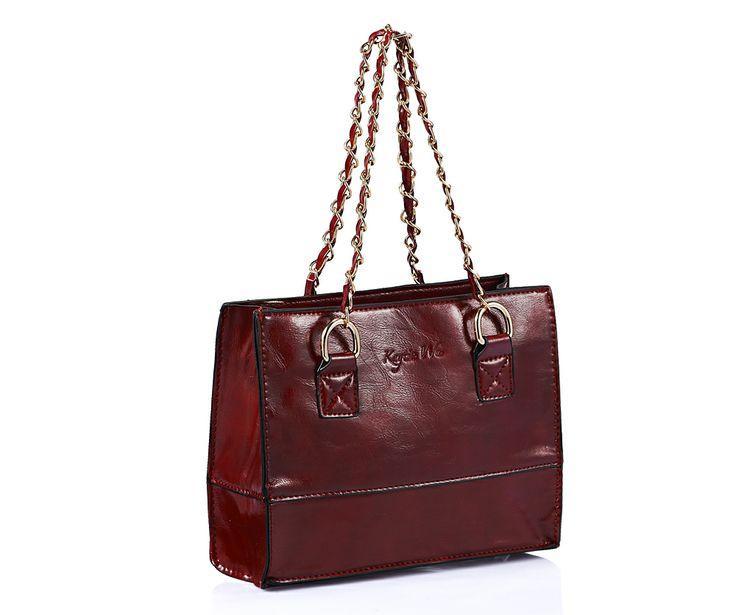 MINI Kaytie Wu shopper with chain handle dark red £18