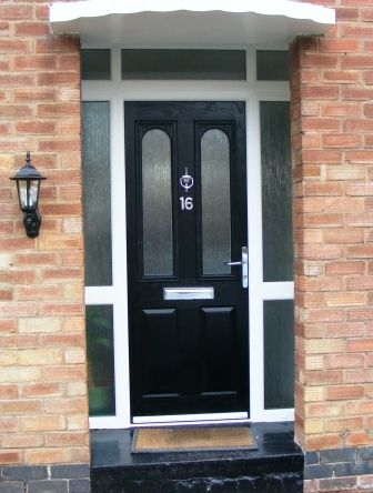 Black Veka Marquise 2 3 Composite Front Door With