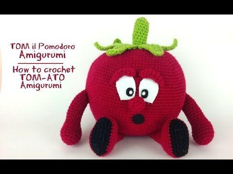 TOM il Pomodoro Amigurumi | How to crochet TOM-ATO Amigurumi - YouTube